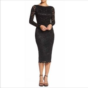 Dress the Population Emery Lace Body-Con Dress Med